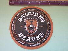 Beer Coaster: BELCHING BEAVER Brewery ~ Vista, San Diego, Ocean Beach CALIFORNIA