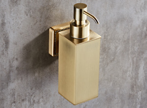 New Brushed Gold SUS 304 Bathroom Lavatory Soap Lotion Dispenser Pump Wall Mount