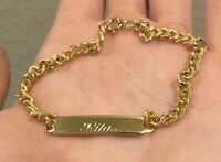 Gold Plated Bracelet Rita Name Gold Plate Jewelry Fashion