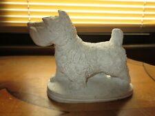 Vintage White West Highland Terrier Dog Figurine