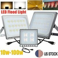 LED Flood Light 10-100W Outdoor Security Spotlight Landscape FloodLamp w/US Plug