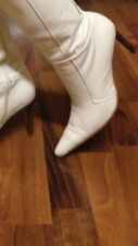 Buffalo Stiefel Easy Angel Gr 38 Weiß Lederstiefel High Heels Damenstiefel