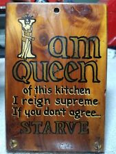 Vintage Kitchen Wall Plaque/ Queen Of The Kitchen