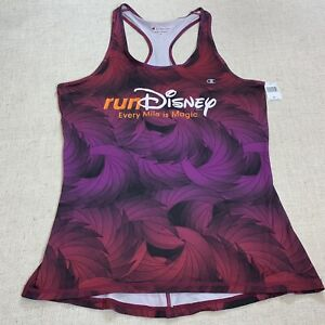 Run Disney Champion Purple Racer Back Tank Top Women's Size M Medium - NWT