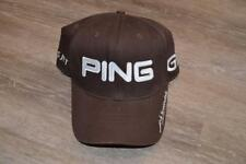 HUNTER MAHAN  PING MARQUIS JET TOUR ISSUE LOGO BROWN GOLF HAT