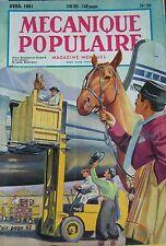 REVUE MECANIQUE POPULAIRE N° 059 TOREADORS TELEPHERIQUE BOMBE ATOMIQUE 1951