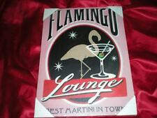"""VIVID PINK FLAMINGO LOUNGE """"BEST MARTINI IN TOWN"""" TROPICAL SIGN, CHRISTMAS GIFT"""
