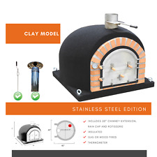 Dome Ovens® Clay Model Pizza Oven with free chimney and rotisserie