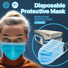 [300 Pcs] Disposable Face Mask Non Medical 3-Ply Ear Loop Protective Mouth Cover