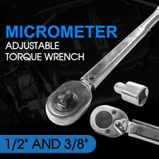 """Adjustable 1/2"""" and 3/8"""" Dual Drive Micrometer Torque Ratchet Wrench"""