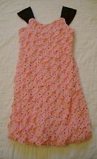 Girls Speechless Dress PINK Size 7 Ruffles Black SPARKLES Pagent Church EASTER