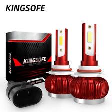 2Pcs Mini Led Headlight Kit Bulbs 9006 Hb4 36W 8000Lm 6000K Cob Car Light Lamps