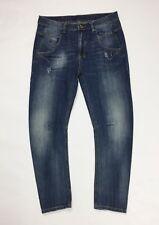 jeans uomo usato slim skinny stretch curvo w32 tg 46 blu denim boyfriend T3188