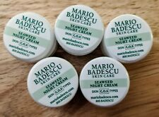 Lot of 5 Mario Badescu Skin Care Seaweed Night Cream .25 oz each- 1.25 oz Total
