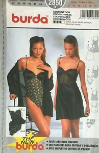 Burda Misses' Bikini Panties Teddy Bra Slip and Camisole Pattern 2850  8-18 UNC