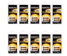 60x Duracell ActivAir | Hörgerätebatterien | Knopfzelle | PR41 | Typ 312