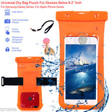 Waterproof Universal Touch ID Armband Case Pouch Dry Bag Cover for Cell Phone