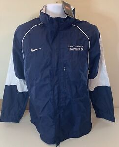 Nike Team Men's Saint Anselm Full Zip Hidden Hoodie Rain Jacket Total 90 NWT!