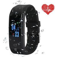Sport Blood Pressure Oxygen Heart Rate Fitness Smart Watch Wrist Band Bracelet