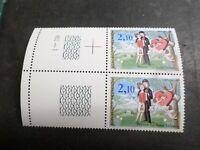 FRANCE 1985, VARIETE 3° OISEAU, timbre 2354c, PEYNET, BIRD, neuf**, MNH STAMP