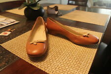 PRADA  Leather Ballet Flat Flats Shoes Beige Camel Caramel Tan sz 38