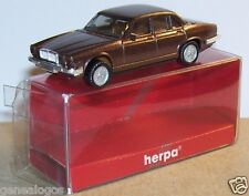 MICRO HERPA HO 1/86 1/87 JAGUAR XJ 6 12 MARRON FONCE METAL in BOX