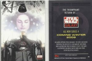 STAR WARS GALAXY SERIES 4  PROMO CARD P2 BY TOPPS