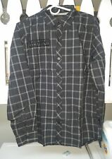 Harley-Davidson Mens Long Sleeve Plaid Woven Shirt Slim Fit Button Up Large.