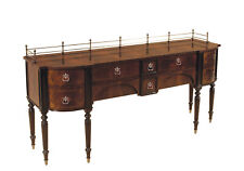 Mahogany Dining Room Sideboard with Brass Accents