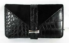 Nine West $35 New Table Treasures Deluxe Black Wallet Faux Leather Snap Closure
