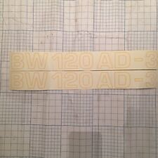 2 BOMAG BW120AD-3 ROLLER COMPACTOR DECALS 2 X 420mm X 50mm  SPARE PARTS  INCVAT