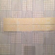 2 Bomag BW120AD-3 RULLO COMPATTATORE Decalcomanie 2 x 420 mm x 50 mm pezzi di ricambio incvat