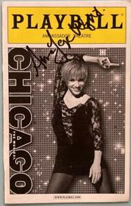 Amra-Faye Wright Signed ( Only) Signed Chicago Playbill Amy Spanger  Carol Woods