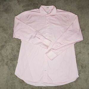 Peter Millar Button Front Shirt Adult Large Pink White Striped Long Sleeve Dress