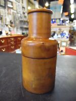Antique Apothecary Jar Encased In Wood