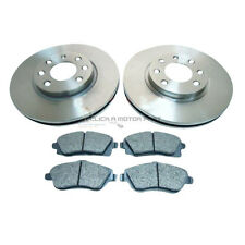 VAUXHALL CORSA C 1.2 16V SXi FRONT 2 BRAKE DISCS AND PADS SET NEW (240mm VENTED)