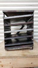 Vintage Metal Letterpress Galley Rack With 6 Trays