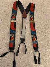 Rare Albert Thurston London Made in England Lady With Flowers Suspenders