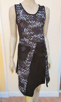 Apricot - Womens Black Mix Sleeveless Tunic / Dress - Size M