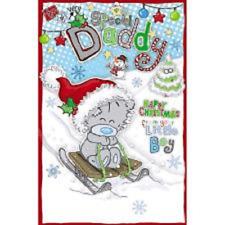 Me to You Tatty Teddy Daddy From Little Boy Glittery Christmas Card XSEDB003