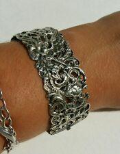 Silver Griffin Italian Florentine Bracelet Art Deco Peruzzi Style 800