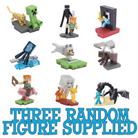 3x Minecraft Craftables Series 1 Action Figures (3 random figures supplied)