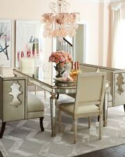 """John-Richard Eliza 72"""" Antiqued Mirrored Dining Table Neiman Marcus Horchow"""