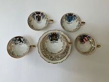 New listing Vintage / Antique 5 Cups And Saucers, Miniature, Edelstein Bavaria, Germany