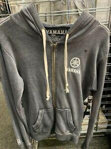 New Yamaha Women's Zip Up Hooded Sweatshirt ~Gray~ M ~ #CRW-14FZH-BK-MD