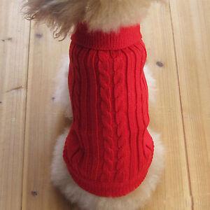 Dog  Pet Clothes Winter Sweater Knitwear Puppy Clothing Warm Size: XXS--XL