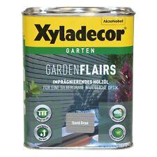 Xyladecor Garden Flairs 2,5L sand grau BEULE Holzöl Imprägnierung Metalleffektöl