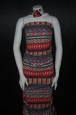 Cotton Jersey Lycra Geometric  Print  Knit Fabric Very Soft  Tribal Print 9 oz