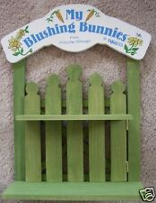 "ENESCO, BLUSHING BUNNIES ""PICKET FENCE-DISPLAY STAND"""