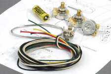 Fender Jazz Bass Wiring Kit w/ CTS Pots, Jack, Angela/Jensen Cap Capacitor Kit